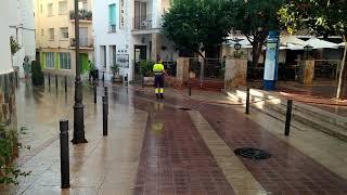 Уборка улиц в Испании