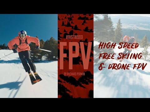 Фото Fastwood Fpv by Richard Permin - High Speed Free Skiing vs Drone Fpv