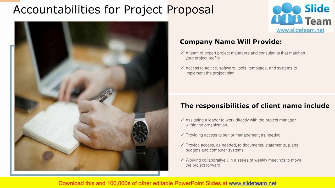 Project Proposal Template Powerpoint Presentation Slides Youtube