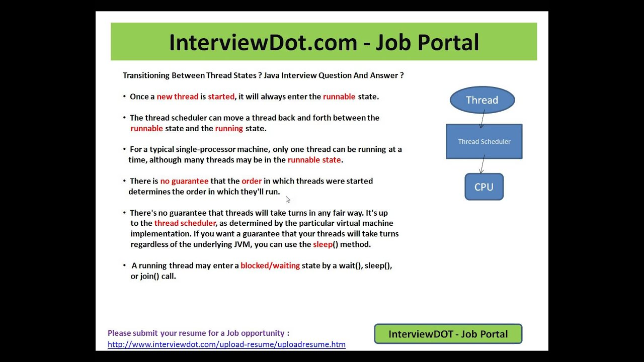 java interview question and answer different types of threads java interview question and answer different types of threads state explain java interview