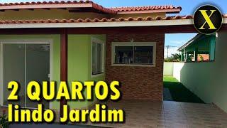 Linda casa, planta com 2 quartos, com pequeno e lindo jardim   Vídeo #266