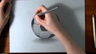 How To Draw-How I draw a football soccer ball realistic drawing.mp4