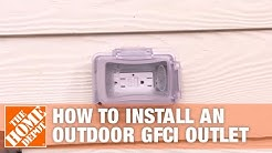 How to Install an Outdoor GFCI Electrical Outlet