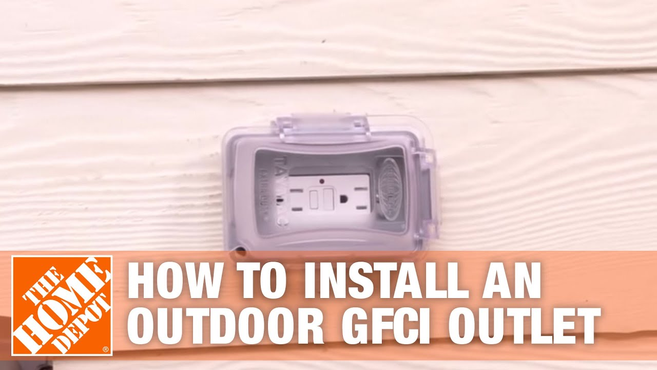 How To Install An Outdoor Gfci Electrical Outlet Youtube Wiring In The Home No Power Bathroom Receptacles Multiple Depot