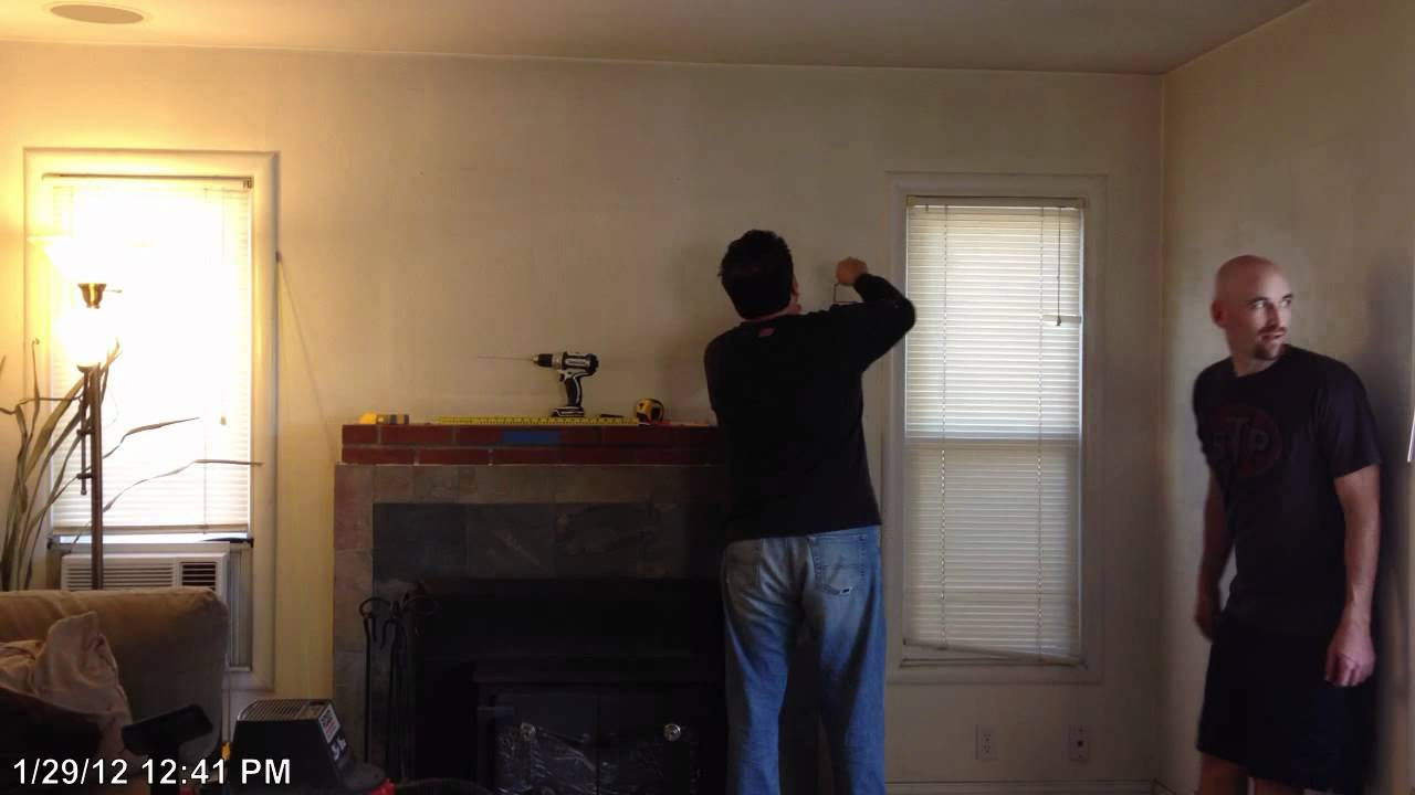 custom wall mounting tv over fireplace part 1 youtube