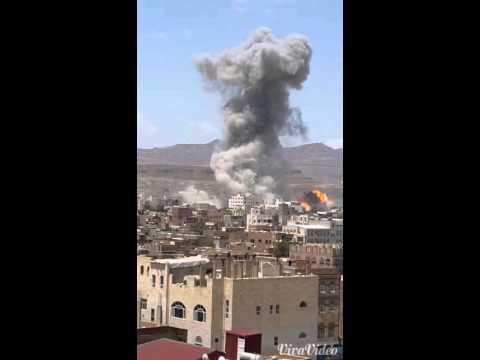 Saleh house second bombardment in Sanaa
