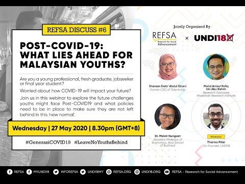 "[REFSA DISCUSS] Webinar ""Post-COVID-19: What lies ahead for Malaysian youths?"""