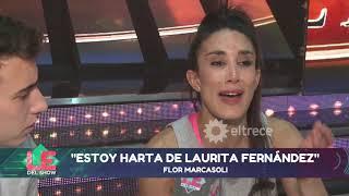 Laurita hizo llorar a Flor Marcasoli por haberla echado del piso de Showmatch