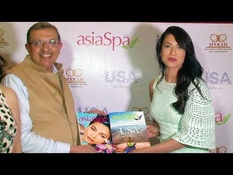 Gauhar Khan UNVEILS Asiaspa Magazine Cover Page - UNCUT EVENT