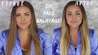 HOW TO FAKE A BALAYAGE USING EXTENSIONS!