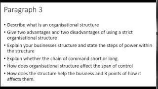 BTEC level 3 business Unit 1 Business Environment P3/P4