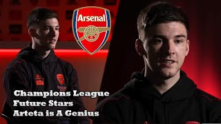 Kieran Tierney Interview | Tierney on Arteta, UCL Football & Arsenal Future Stars