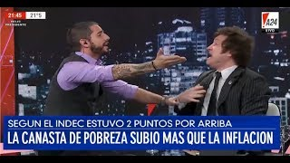 Javier Milei sacadísimo por la defensa de la justicia social en A24- 24/01/18