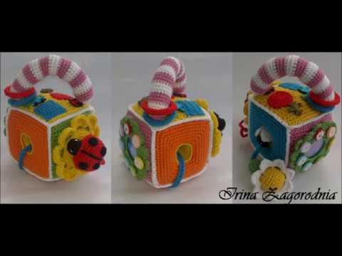 Developing Cube With His Hands Vyazanie Kryuchkomvyazanaya Toy For Children