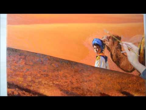Come dipingere le dune del deserto  Como pintar dunas do deserto  YouTube
