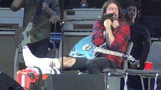 Foo Fighters - Band presentation and Schools out at Ullevi, Gothenburg 215-06-12