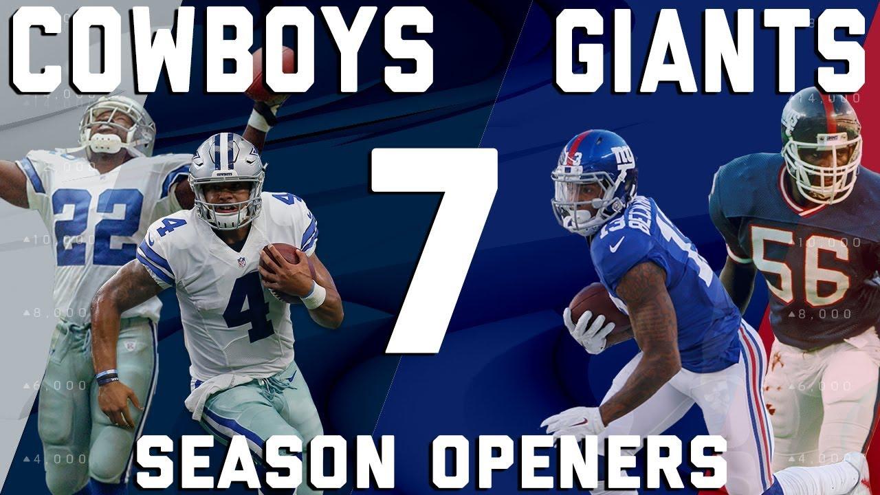 73687ea9b7e Dallas Cowboys vs. New York Giants 7 Season Openers