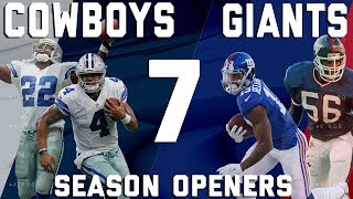 Dallas Cowboys vs. New York Giants 7 Season Openers | Flashback Friday | NFL Vault Stories