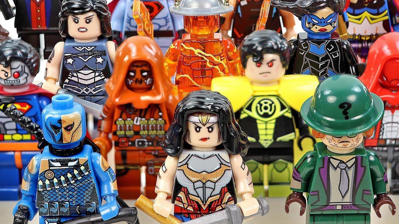 Batman Villains & Justice League Wonder Woman Superman Unofficial LEGO Minifigures