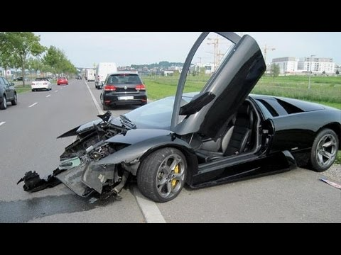 accident de voiture les plus chere du monde lamborghini youtube. Black Bedroom Furniture Sets. Home Design Ideas