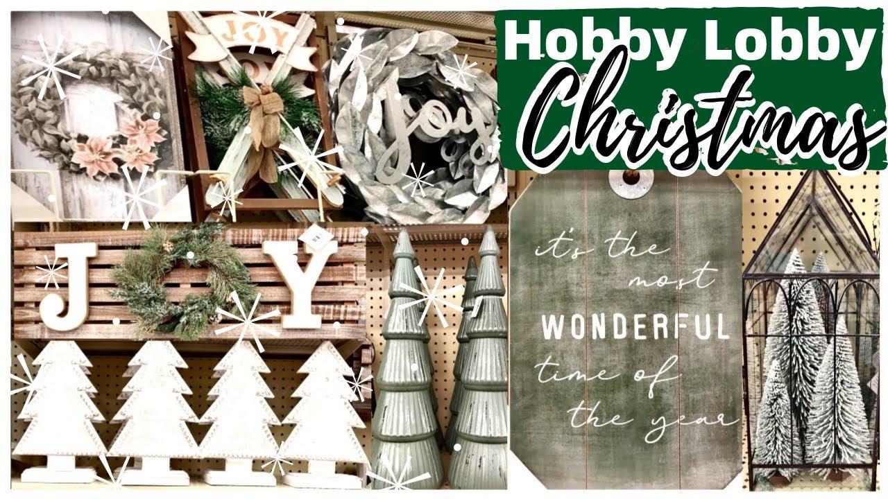 Hobby Lobby Farmhouse Christmas Decor 2020 Youtube