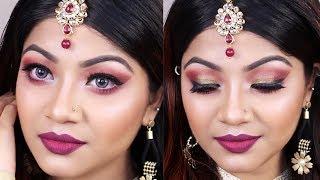 Indian Style Wedding Guest Makeup Tutorial 2018 - Party Makeup Tutorial | LINDA