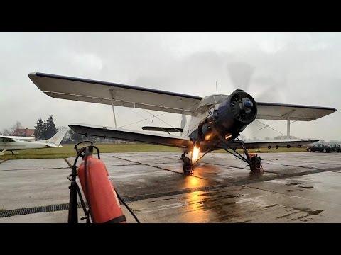 Antonov AN2 AN-2 Engine Start Up After 1,5 Year 4K
