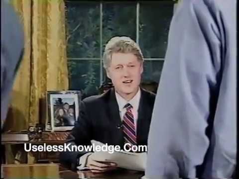 President Clinton Oval Office Lost Teleprompter