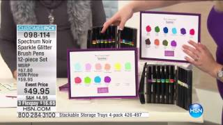 Sparkle by Spectrum Noir Glitter Brush Pens 6 Pack