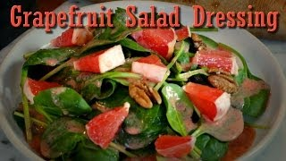 Easy Vegan Recipe: Grapefruit Dressing With Pecan Spinach Salad
