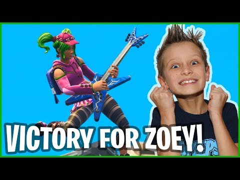 Victory Royale With New ZOEY Skin!