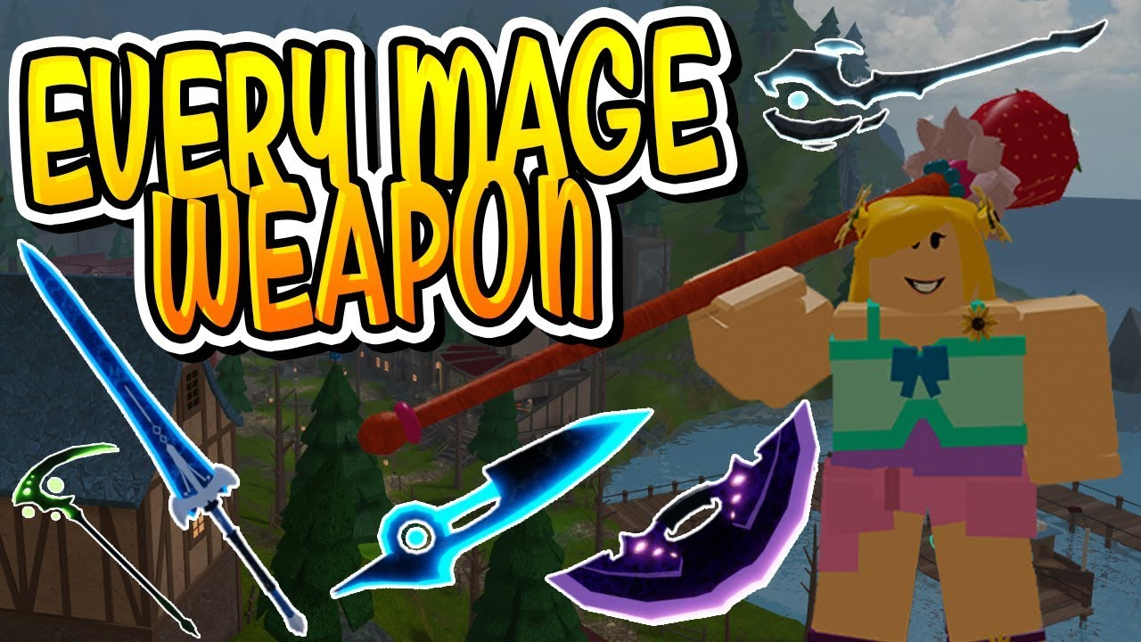 New Every Canal S Mage Weapon In Dungeon Quest Roblox Youtube