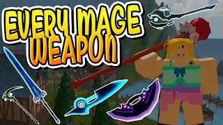 *NEW* EVERY CANAL'S MAGE WEAPON IN DUNGEON QUEST!! (Roblox)