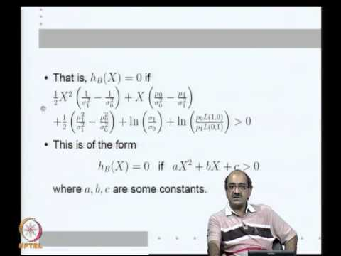 Mod-02 Lec-03 The Bayes Classifier for minimizing Risk