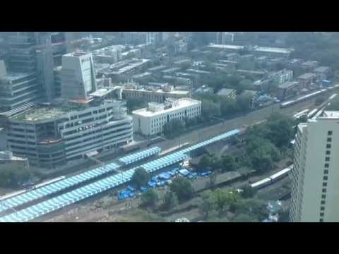 Lower Parel railway station aerial view