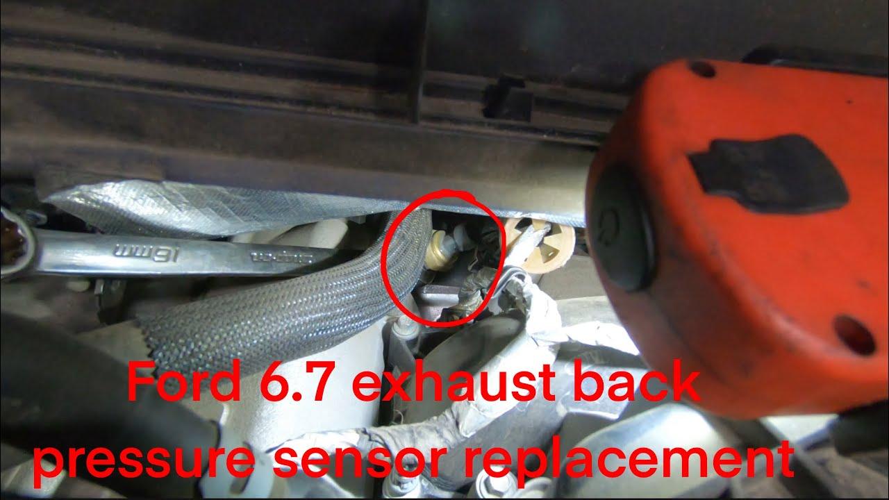 ford 6 7 power stroke f550 exhaust back pressure sensor p0471 p0473 p0474