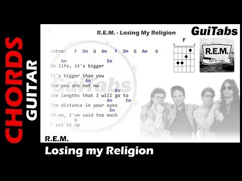 R.E.M. - Losing My Religion ( Lyrics and GuiTar Chords ) 🎸