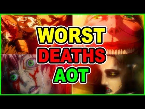 TOP 20 WORST Attack On Titan DEATHS