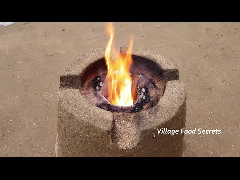 Sawdust Stove | Homemade Sawdust Burner | Homemade Wood Burning Rocket Stove | Village Food Secrets
