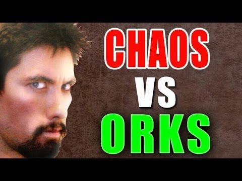 Orks vs Chaos Warhammer 40K Battle Report - Banter Batrep Ep126