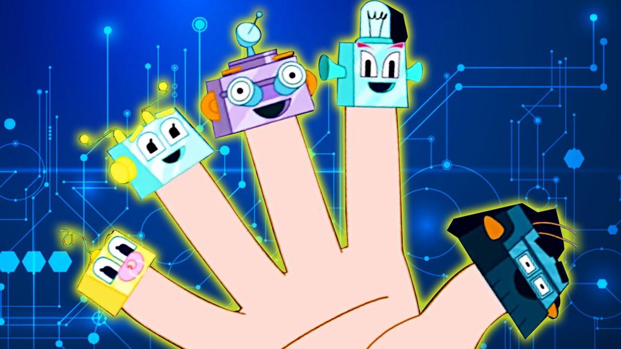 Семья Робот Фингер | HooplaKidz песенки для детей | Robot Finger Family | детские стишки