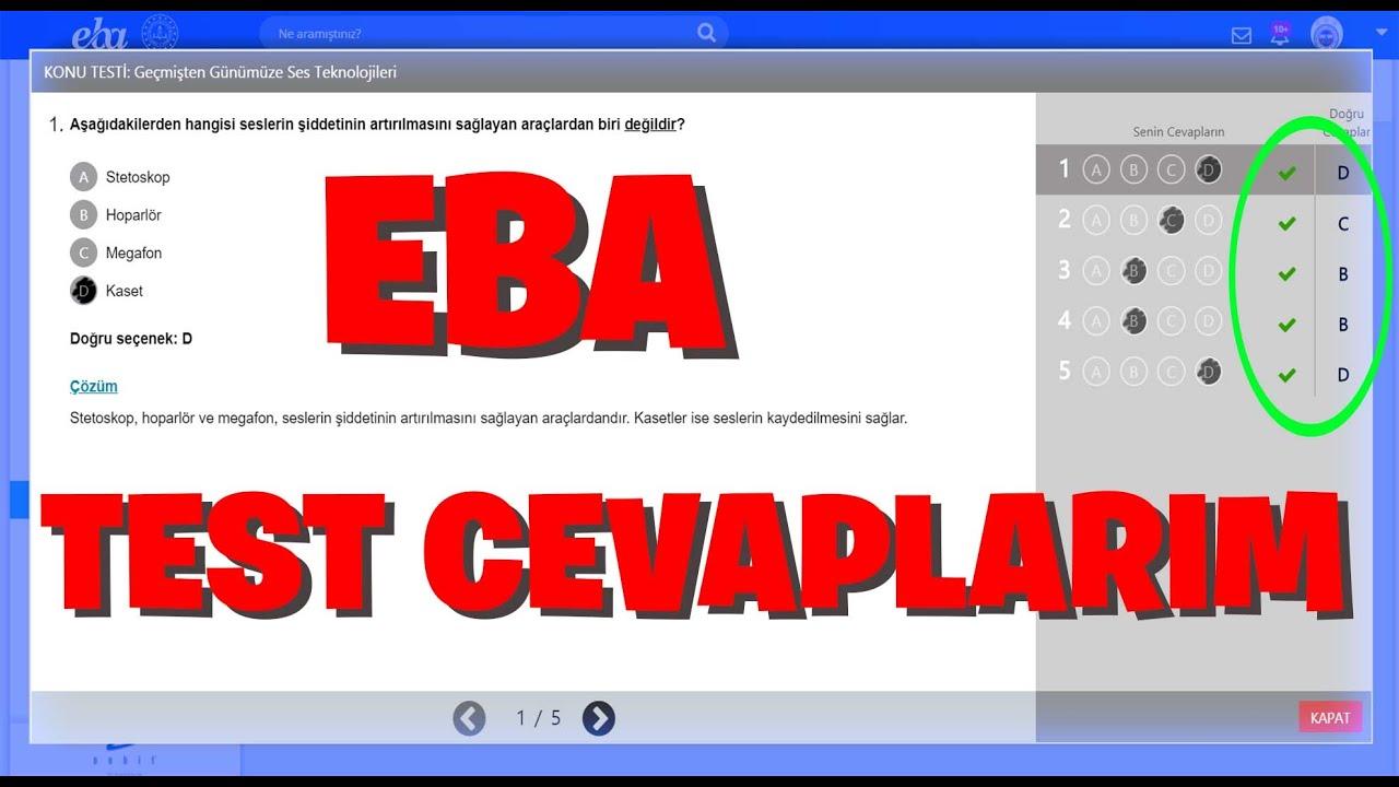 EBA TEST CEVAPLARI !! | #1 (2020)