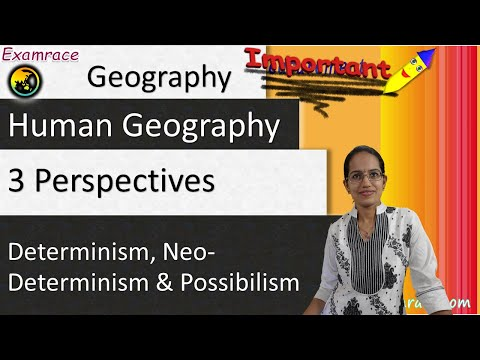 Determinism (Ratzel), Neo-Determinism and Possibilism (Blache) - 3 Perspectives in Human Geography