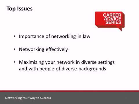Career Advice Series: Networking Your Way To Success