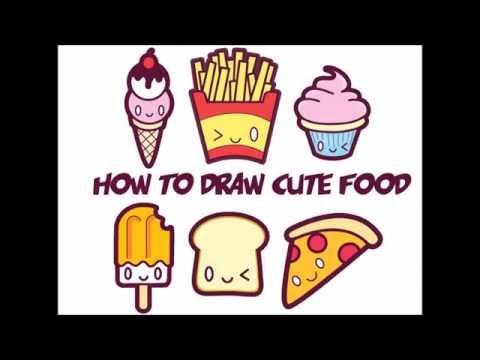 food drawing for kids. how to draw kawaii food easy step by for kids and beginners drawing cute youtube