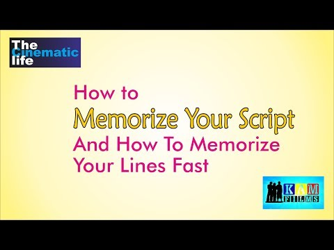How to Memorize Your Script : Online Acting Classes By Kammal Chaudhry
