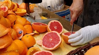 Download 불티나게 팔리는 자몽쥬스 / orange, grapefruit juice, fruit ade / korean street food Mp3 and Videos