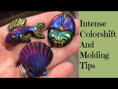 Intense Color Shifting Pigments Tips And Tricks For Perfect Molds Every Time Polymer Clay Tutorial