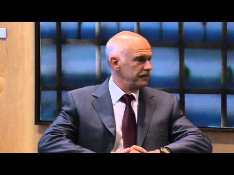 Euro summit: Barroso meets Papandreou (raw video)