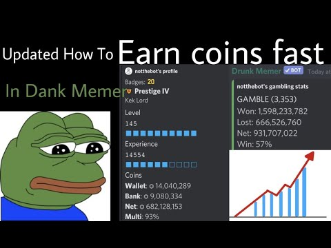 Updated: How To Earn Coins Fast In Dank Memer